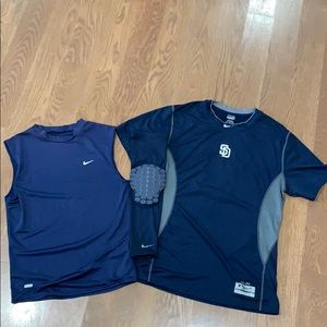 *Bundle* 2 Nike Dri-Fit Shirts and Shooter Sleeve